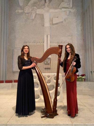 Violin & Harp Live Duo for your Gala, Wedding or Event